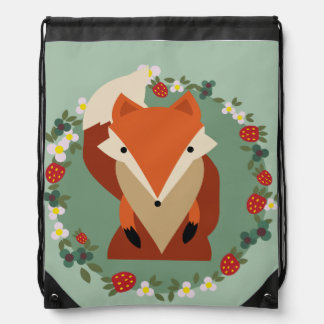 Rucksack Fox cord Drawstring Backpack