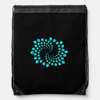 Rucksack reason turquoise spiral blue drawstring backpack