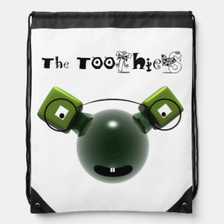 Rucksack with Toothies cord Drawstring Backpack