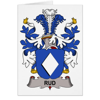 Rud Family Crest Greeting Card