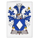 Rud Family Crest Greeting Cards