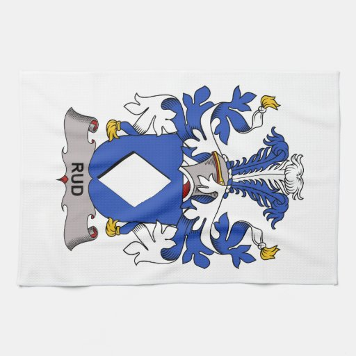 Rud Family Crest Hand Towels