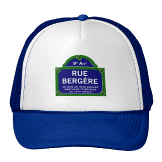 Ruda Bergere, placa de calle de París Gorros