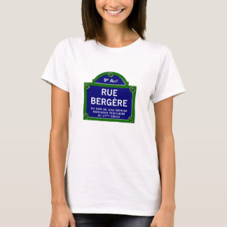Ruda Bergere, placa de calle de París Playera