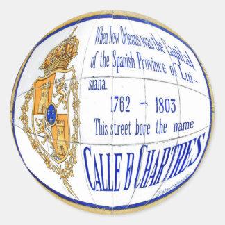 Ruda Chartres Pegatina Redonda