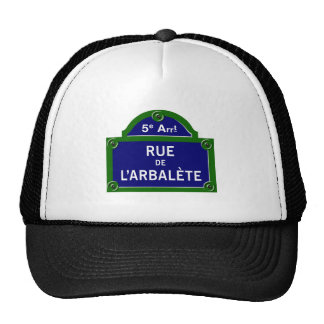 Ruda de l'Arbalete, placa de calle de París Gorros