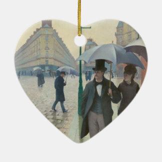 Ruda de París Temps de Pluie de Gustave Caillebott Adornos De Navidad