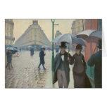 Ruda de París Temps de Pluie de Gustave Tarjeta De Felicitación