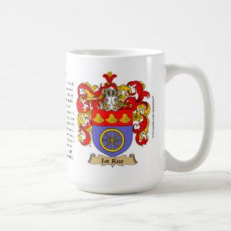 Ruda del La, el origen, el significado y el escudo Taza Básica Blanca