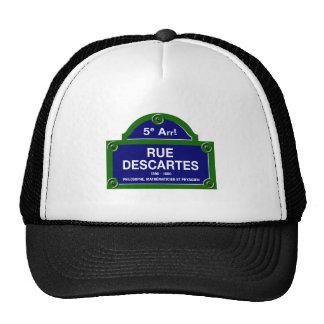 Ruda Descartes, placa de calle de París Gorras