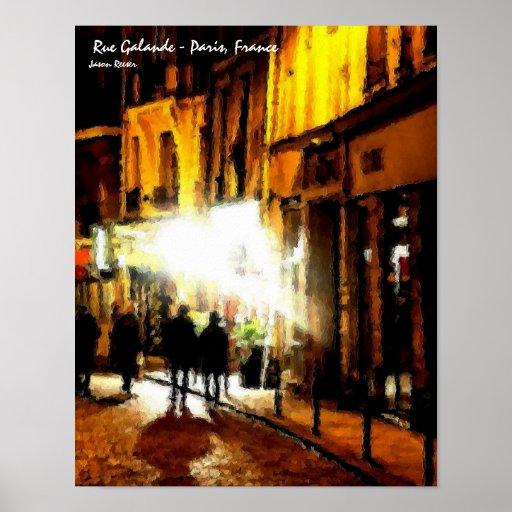 Ruda Galande, París Francia Póster