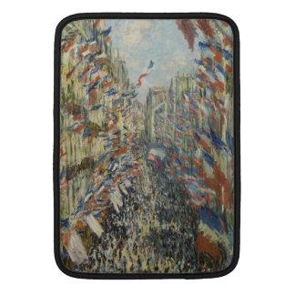 Ruda Montorgueil en París de Claude Monet Funda MacBook