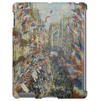 Ruda Montorgueil en París de Claude Monet Funda Para iPad