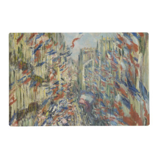 Ruda Montorgueil en París de Claude Monet Tapete Individual