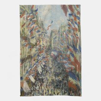Ruda Montorgueil en París de Claude Monet Toallas