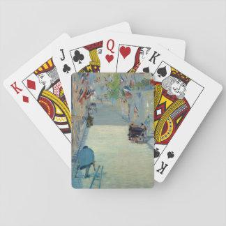 Ruda Mosnier con las tarjetas de la pintura de Naipes