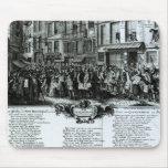 Ruda Quinquempoix en 1720 Tapete De Ratón
