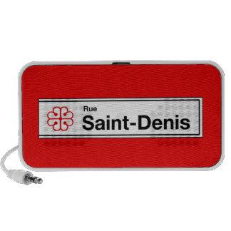 Ruda Santo-Denis, placa de calle de Montreal Mp3 Altavoces