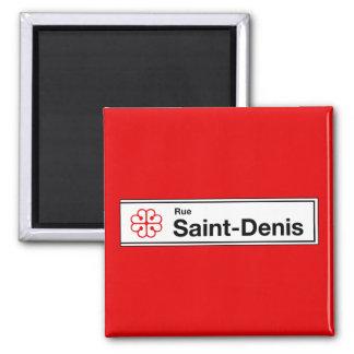 Ruda Santo-Denis, placa de calle de Montreal Imán Cuadrado