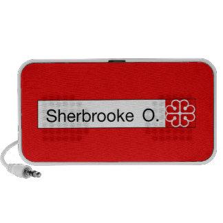Ruda Sherbrooke, placa de calle de Montreal Laptop Altavoz