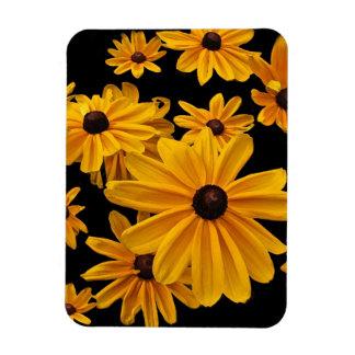 Rudbeckia Black Eyed Susan Flowers Flexible Magnet