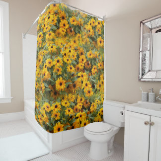 Rudbeckias / A Bed of Black-Eyed Susans Shower Curtain