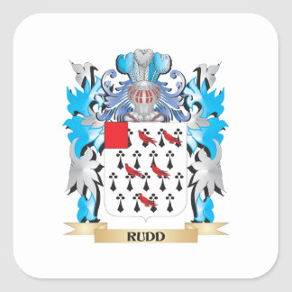 Rudd Coat of Arms - Family Crest Square Sticker