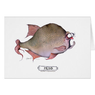 Rudd fish, tony fernandes greeting card