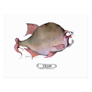 Rudd fish, tony fernandes postcard