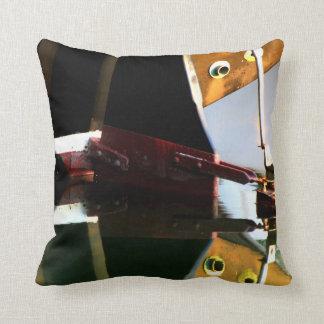 Rudder Reflections Throw Pillow