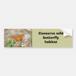 Ruddy Daggerwing butterfly bumper sticker Car Bumper Sticker