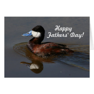 Ruddy Duck Swimming Fathers' Day Card