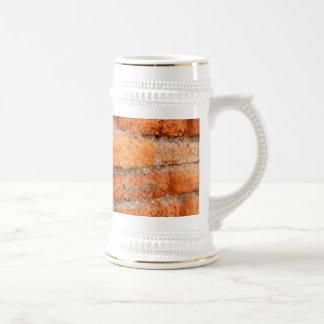 Ruddy Orange Brick Wall Beer Stein