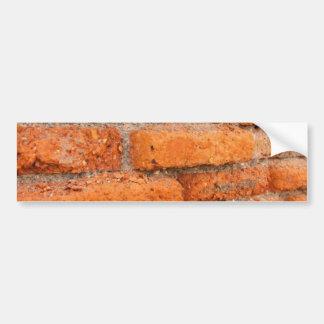 Ruddy Orange Brick Wall Bumper Sticker
