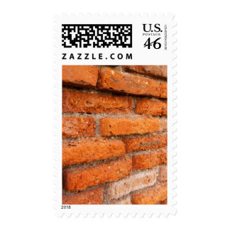 Ruddy Orange Brick Wall Postage
