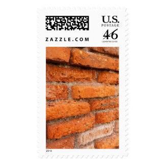 Ruddy Orange Brick Wall Stamp