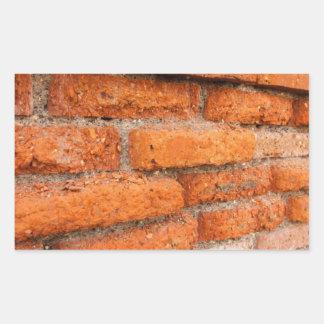 Ruddy Orange Brick Wall Rectangular Sticker