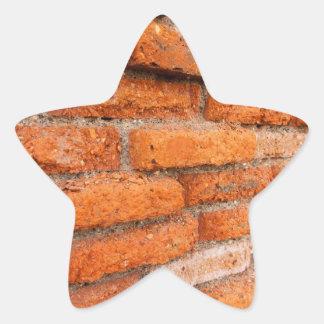 Ruddy Orange Brick Wall Star Sticker