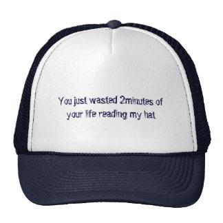 Rude attitude trucker hat