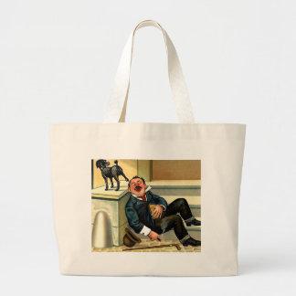 RUDE AWAKENING Vintage Dog Art Jumbo Tote Bag