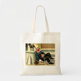 RUDE AWAKENING - Vintage Dog Art Budget Tote Bag