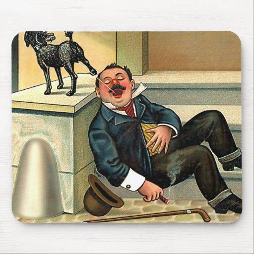 RUDE AWAKENING - Vintage Dog Art Mouse Pad