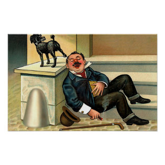 RUDE AWAKENING - Vintage Dog Art Poster