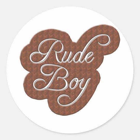Rude Boy Classic Round Sticker