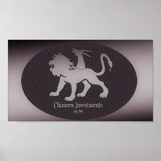 Rude Boy USA - Chimera investments Logo Poster