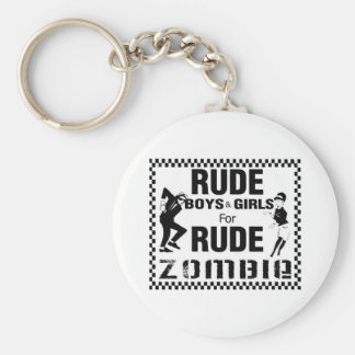 Rude boys and girls for rude zombie keychain