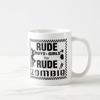 Rude boys and girls for rude zombie classic white coffee mug
