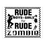 Rude boys and girls for rude zombie post cards
