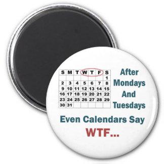 Rude Calendar Full Magnet