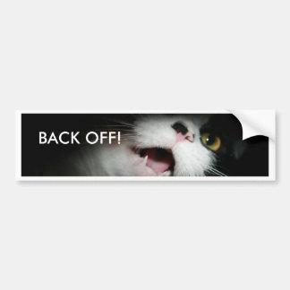 Rude Cat Custom and Sayings Bumper Sticker